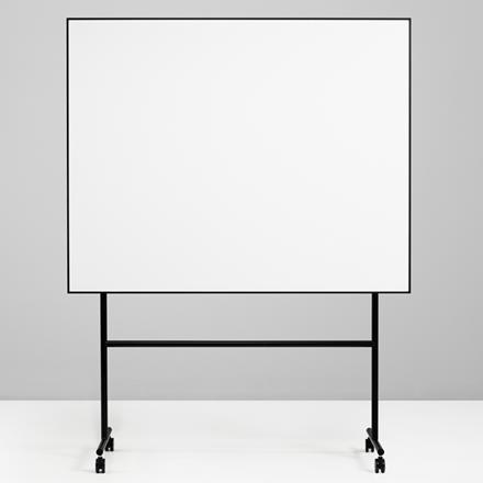 Mobiltavle - Lintex ONE whiteboard med sort stativ og ramme 150 x 120 cm