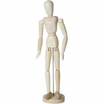 Modeldukke, H: 30 cm, kvinde, 1stk.