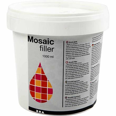 Mosaikfiller, hvid, , 1000ml