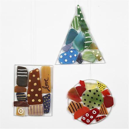 Mosaikophæng | materialer til 40 stk. glasophæng