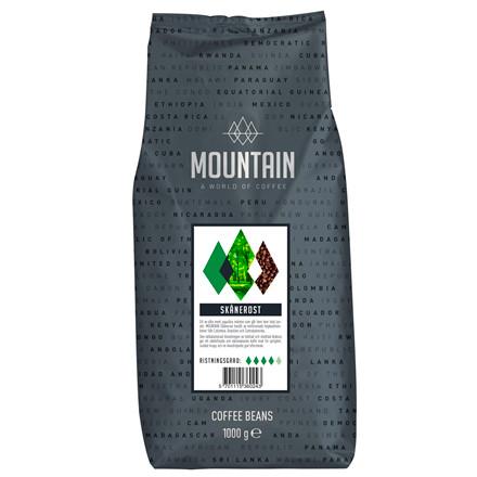 Mountain Skånerost kaffebønner - 1 kg. hele bønner