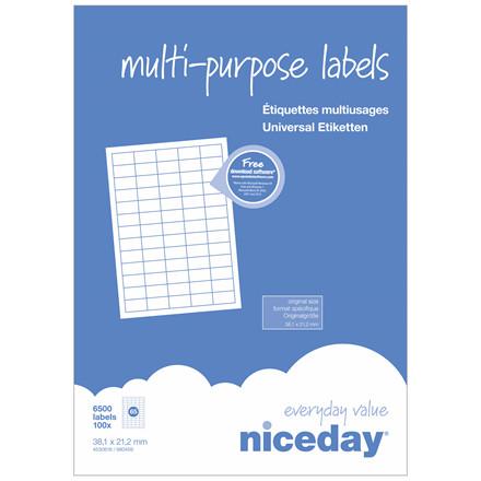Multilabel - niceday A4 4530618 65 pr. ark 38,1 x 21,2mm - 100 ark