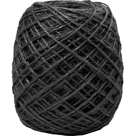 Naturhamp sort tykkelse 1-2 mm - 150 meter