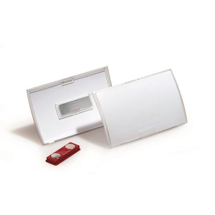 Navneskilt CLICK FOLD magnet 54x90mm 10stk/pak