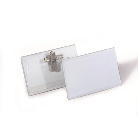 Kongresmærker med nål og klemme 54 x 90 mm - 50 stk.
