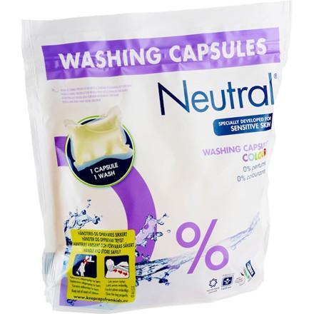 Neutral vaskekapsler til farvet vask - 28 ml pr. kapsel