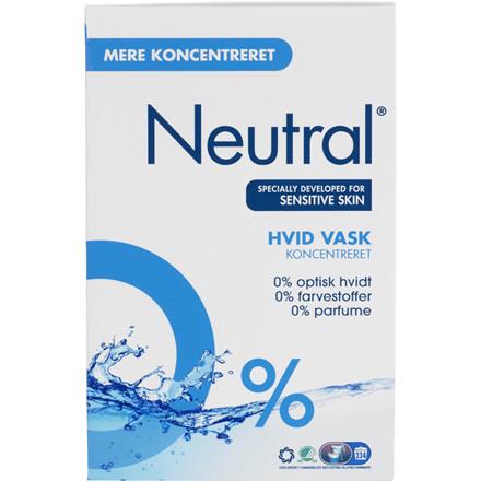 Neutral vaskepulver uden parfume til hvid vask - 11,2 kg