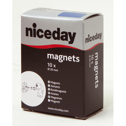niceday magneter - blå Ø 20 mm 980591 - 10 stk.