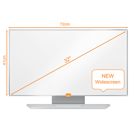 Whiteboard Nobo widescreen emaljeret 32""