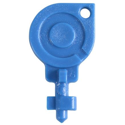 Nøgle, blå, plast, til Eco Line dispenser, 5 stk