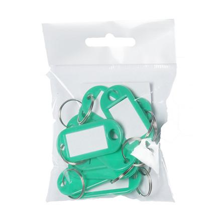 Nøglebrikker plast PET grøn