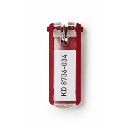 Nøgleskilte til Durable Keybox - Rød farve 65 x 25 mm
