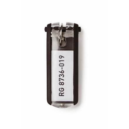 Nøgleskilte til Durable Keybox - Sort farve 65 x 25 mm