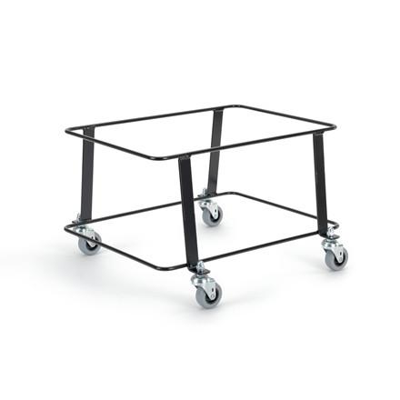 Nordiska Plast Korgtralla svart med hjul