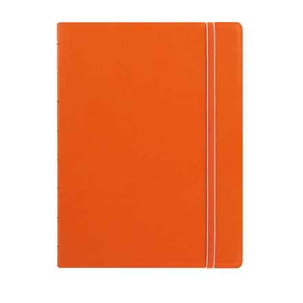 Notebook Filofax A5 orange incl linierede blade