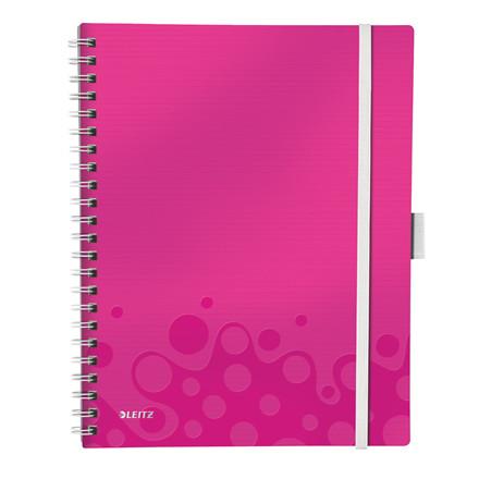 Leitz Notesblok A4 Be Mobile - Pink med linieret sider - 80 sider