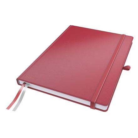 Notesbog Leitz Complete A4 - Rød med linjeret 96 gram papir - 80 sider