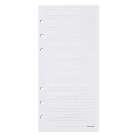 Notesblok til personlig planner 9,5 x 17 cm 48 ark pr. blok - Mayland 378300