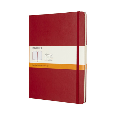 Notesbog MOLESKINE Classic hard linieret XL rød