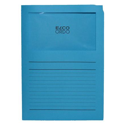Omslag med rude elco blå A4 220 x 310 mm | 100 stk.