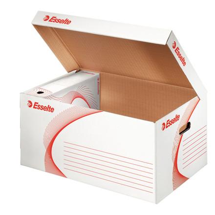 Opbevaringskasse 36,5 x 25,5 x 55 cm Esselte 128900 - hvid/rød