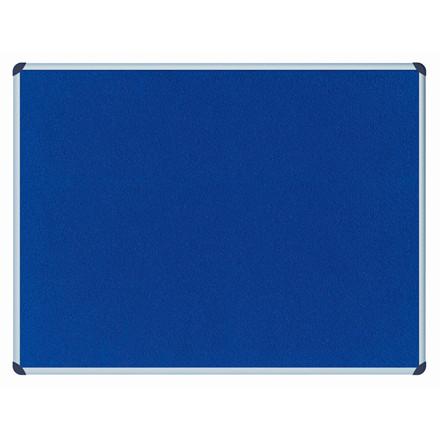 Opslagstavle filt Office Depot blå 90x60cm m/aluminiumskant