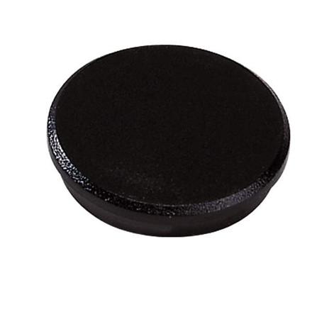 Opslagstavle magnet - Dahle 24 mm rund sort - 10 stk.