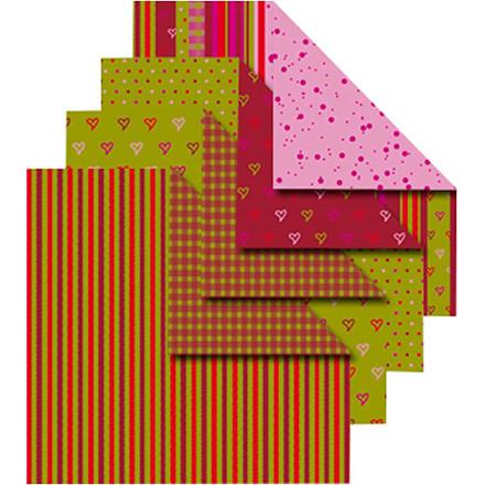 Origamipapir Vivi Gade Helsinki størrelse 10 x 10 cm 80 gram - 50 assorterede ark