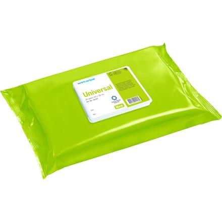 Overfladedesinfektion, Wet Wipe Universal, uden farve og parfume, maxi, grøn, 30x43 cm,