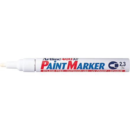 Paint marker Artline 400XF - Hvid 2,3 mm rund spids
