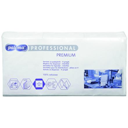 Paloma Premium dispenserserviet, 2-lags, hvid, 16,20x23 cm,