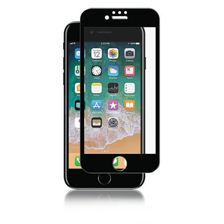 Skærmbeskyttelse Panzer iPhone 8/7/6S Full-Fit glas sort