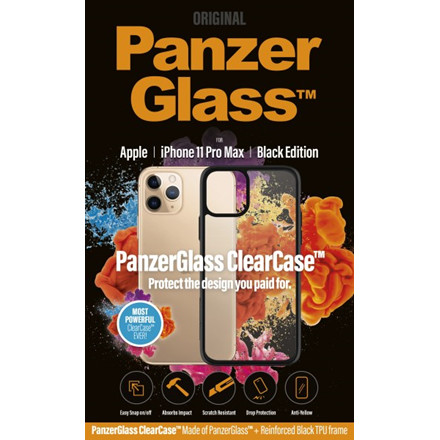 PanzerGlass ClearCase with BlackFrame for iPhone 11 Pro Max