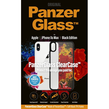 PanzerGlass ClearCase with BlackFrame for iPhone Xs Max