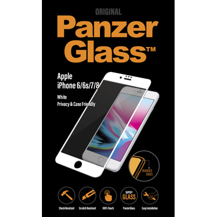 PanzerGlass iPhone 6/6s/7/8 Privacy, White