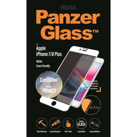 PanzerGlass iPhone 8/7/6s/6 Plus Privacy CamSlider, White (C