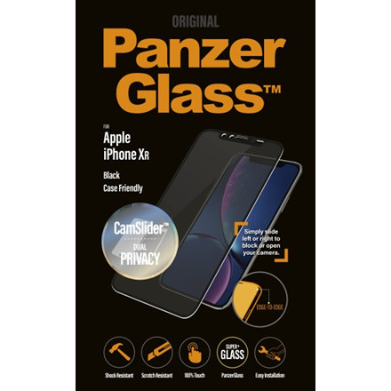 PanzerGlass iPhone XR Privacy CamSlider, Black (CaseFriendly