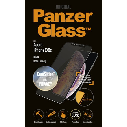 PanzerGlass iPhone X/Xs Privacy CamSlider, Black (CaseFriend