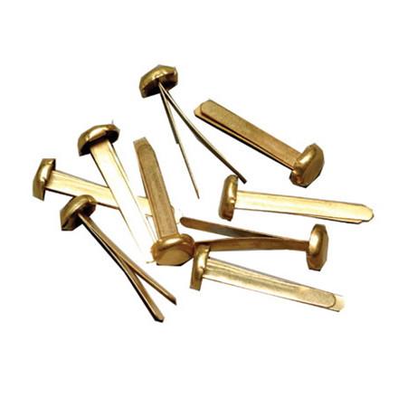 Metalclips 25 mm guld til lukning af kuverter - 100 stk i æske