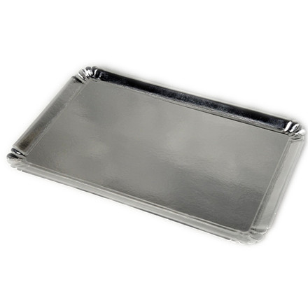Papfad sølv 42 x 28 cm - 25 stk