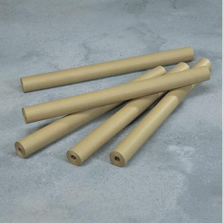 Papir - kraftpapir i brun 125 cm x 50 m x 60 g, med 20 mm hul håndrulle 3,8kg