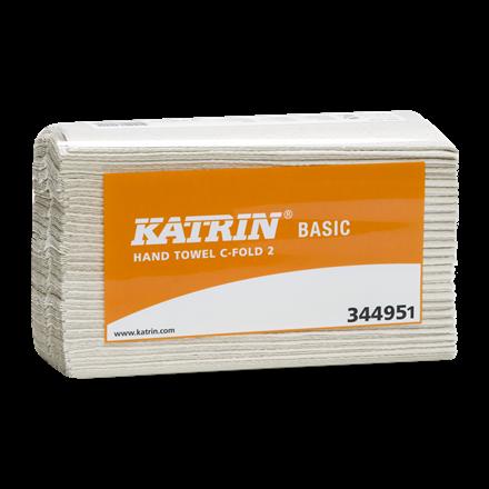 Katrin 344951 Basic Håndklædeark C-fold 2 lags 33 cm - 3000 ark
