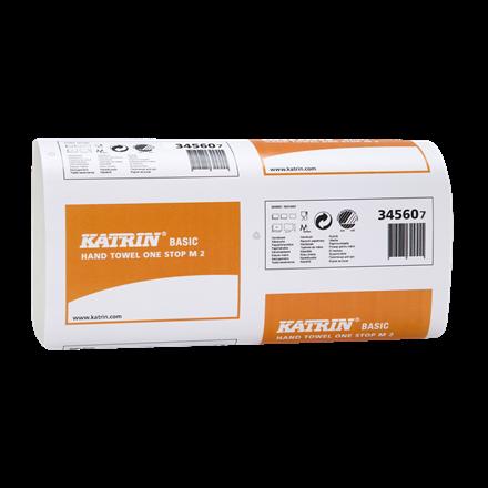Katrin 345607 Basic One Stop M2 Papirhåndklæde 2 lags 25 cm - 3024 ark