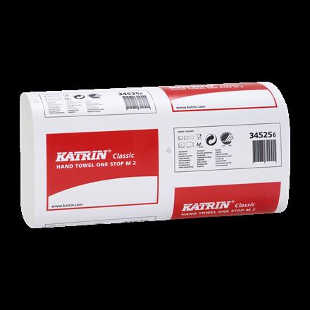 Katrin Classic One Stop M2 Papirhåndklæde 2 lags 25 cm 345253 - 3024 ark