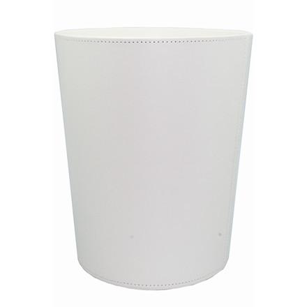 Hvid Mayland Papirkurv i kunstskind - 22,5 x 27 cm