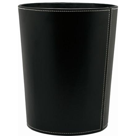 Mayland Papirkurv i sort kunstskind - 22 x 27 cm