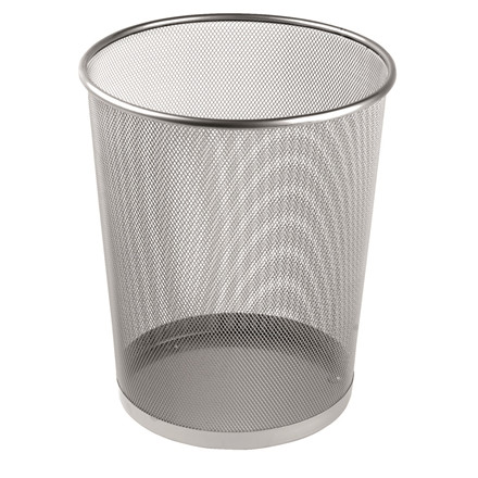 Sølv Papirkurv - Metal trådnet
