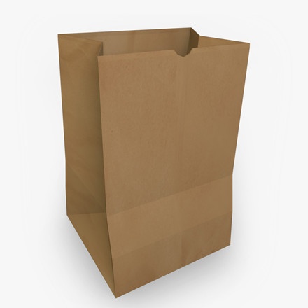 Papirsbærepose uden hank i brun - 220 x 125 x 420 mm 100 stk