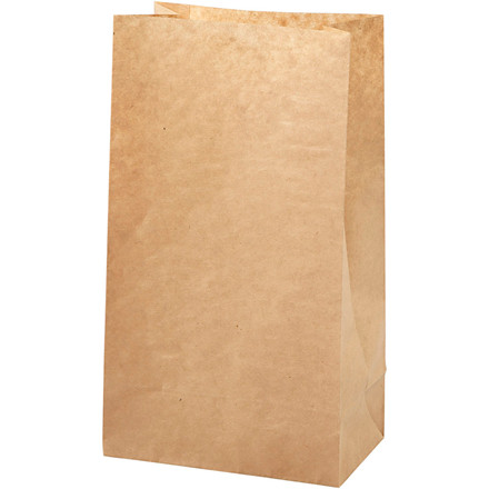 Papirspose størrelse 15 x 9 x 27 cm 50 gram brun | 100 stk.