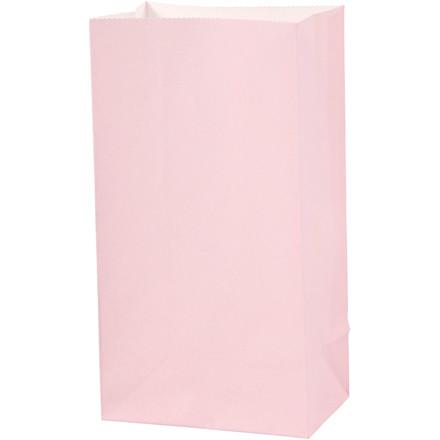 Papirsposer højde 17 cm størrelse 6 x 9 cm rosa 80 gram   10 stk.